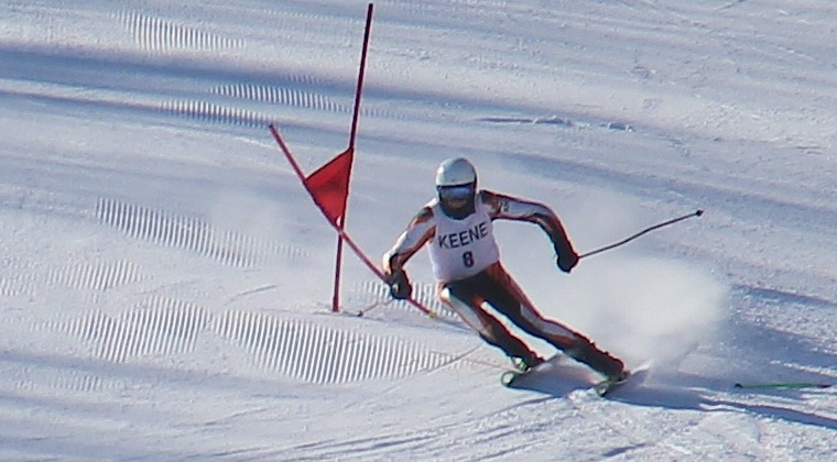 Bennett skiing to 4th place in the NH High School Division 1 State Championships