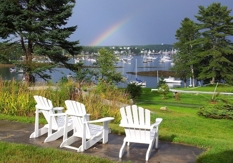 A Summer Rainbow from Harborfields Cottages, West Boothbay Harbor, Maine