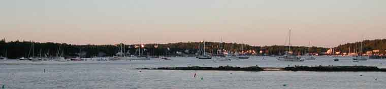 Sunset over Boothbay Harbor